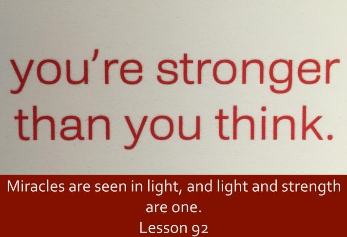 ACIM Lesson 92